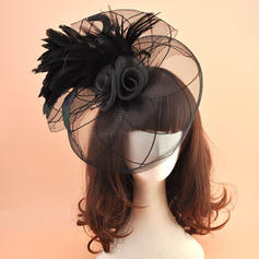 Organza avec Feather Chapeaux de type fascinator Style Vintage Dames Chapeau