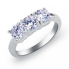 Rings Copper/Zircon/Platinum Plated Ladies' Sparking Wedding & Party Jewelry