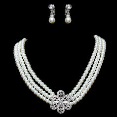 Jewelry Sets Alloy/Pearl Rhinestone Lobster Clasp Earclip Wedding & Party Jewelry