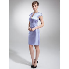 gorgeous empire v-neck illusion chiffon mother of the bride dresses
