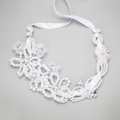 """Headbands Wedding/Special Occasion/Party Rhinestone/Imitation Pearls/Tulle 15.35""""(Approx.39cm) 3.54""""(Approx.9cm) Headpieces"""