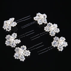 "Hairpins Wedding/Special Occasion Crystal/Alloy/Imitation Pearls 1.57""(Approx.4cm) 3.54""(Approx.9cm) Headpieces"