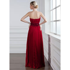 A-Line/Princess Sweetheart Floor-Length Bridesmaid Dresses With Pleated (007001831)
