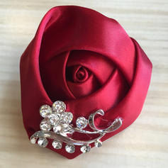 "Boutonniere Round Wedding/Party Satin 2.36""(Approx.6cm) Wedding Flowers"