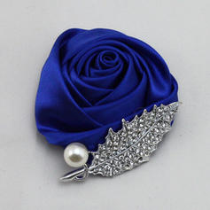 Boutonniere/Men's Accessories Round Wedding Satin The color of embellishments are shown as picture/Color & Style representation may vary by monitor Wedding Flowers