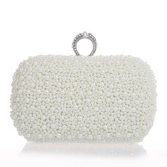 Clutches Wedding/Ceremony & Party Pearl Clip Closure Elegant Clutches & Evening Bags