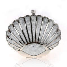 Clutches/Wristlets/Fashion Handbags/Makeup Bags Wedding/Ceremony & Party/Casual & Shopping/Office & Career Stainless Steel Magnetic Closure Elegant Clutches & Evening Bags