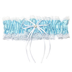 Garters Women Wedding/Special Occasion Satin/Lace With Ribbons/Rhinestone Garter