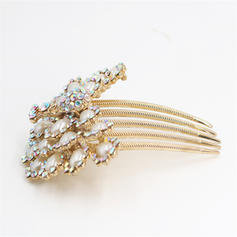 "Combs & Barrettes Special Occasion/Party Rhinestone/Imitation Pearls 3.74""(Approx.9.5cm) 1.77""(Approx.4.5cm) Headpieces"
