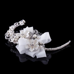 """Combs & Barrettes/Headbands Wedding/Special Occasion/Party Rhinestone/Alloy/Imitation Pearls/Lace 6.69""""(Approx.17cm) 3.35""""(Approx.8.5cm) Headpieces"""