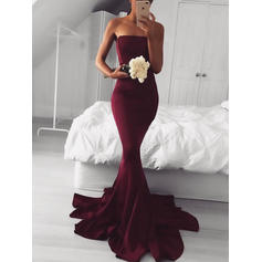 Trumpet/Mermaid Strapless Sweep Train Evening Dresses