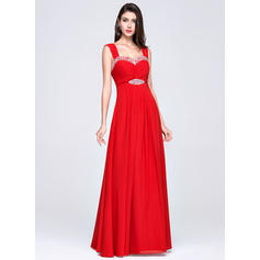 Empire Sweetheart Floor-Length Evening Dresses With Ruffle Beading
