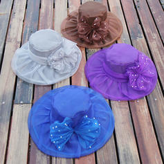 Organza With Bowknot Floppy Hat Beautiful Ladies' Hats