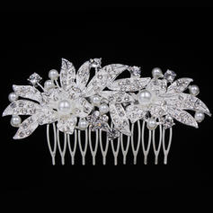 """Combs & Barrettes Wedding/Special Occasion/Casual/Outdoor/Party Alloy 3.94""""(Approx.10cm) 2.09""""(Approx.5.3cm) Headpieces"""