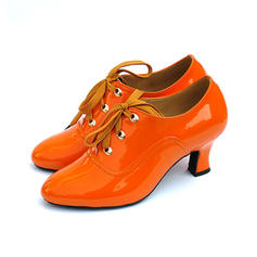 Women's Swing Heels Pumps Leatherette Dance Shoes