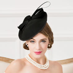 Coton avec Feather Chapeaux de type fascinator Accrocheur Dames Chapeau