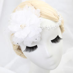 """Flowers & Feathers Wedding/Special Occasion/Party Tulle 11.42""""(Approx.29cm) 3.94""""(Approx.10cm) Headpieces"""