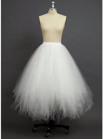 Petticoats Floor-length Tulle Netting/Polyester A-Line Slip 4 Tiers Petticoats