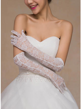 Lace Ladies' Gloves Bridal Gloves Fingertips 40cm(Approx.15.75inch) Gloves
