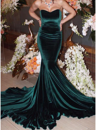 Trumpet/Mermaid Sweetheart Chapel Train Evening Dresses