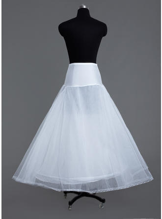 Petticoats Floor-length Tulle Netting/Lycra A-Line Slip/Full Gown Slip 3 Tiers Petticoats