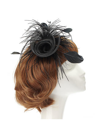 "Fascinators Special Occasion/Party Net Yarn/Feather 5.91""(Approx.15cm) 5.91""(Approx.15cm) Headpieces"