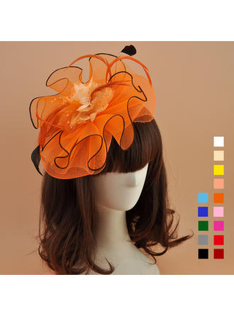 Cambric With Feather Fascinators Elegant Ladies' Hats