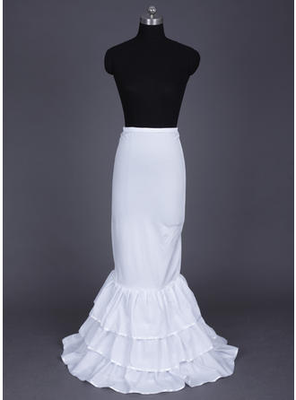 Floor-length Nylon/Lycra Full Gown Slip/Mermaid and Trumpet Gown Slip 3 Tiers Wedding/Special Occasion Petticoats