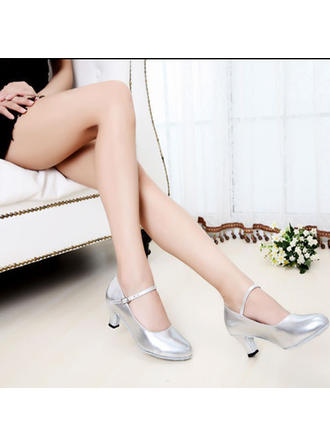 Women's Ballroom Heels Leatherette With Buckle Dance Shoes