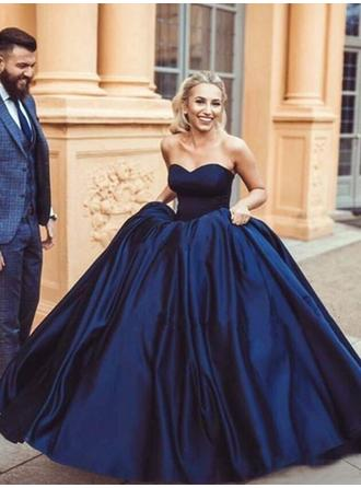 Ball-Gown Sweetheart Floor-Length Evening Dresses With Ruffle