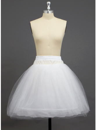 Petticoats Knee-length Tulle Netting/Polyester A-Line Slip/Half Slip 3 Tiers Petticoats