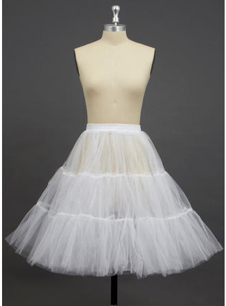 Petticoats Knee-length Tulle Netting A-Line Slip/Half Slip 2 Tiers Petticoats