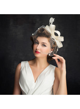 Cambric/Feather/Tulle With Feather Fascinators Simple Ladies' Hats