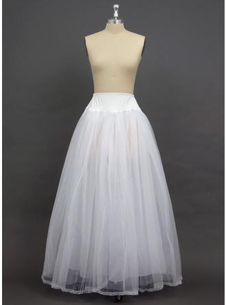 Petticoats Floor-length Tulle Netting/Spandex A-Line Slip 2 Tiers Petticoats