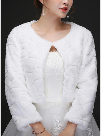 Wrap Wedding Artificial Wool Ivory Wraps