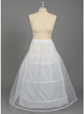 PLUS SIZE Petticoats Nylon/Tulle Netting A-Line Slip 2 Tiers Special Occasion Petticoats