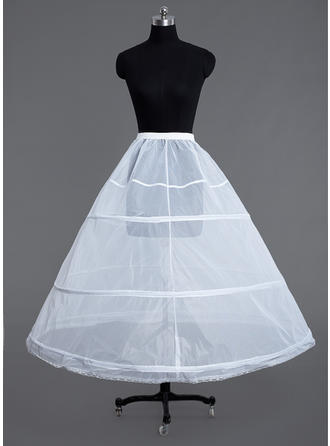 Petticoats Floor-length Tulle Netting Ball Gown Slip/Full Gown Slip 1 Tiers Petticoats