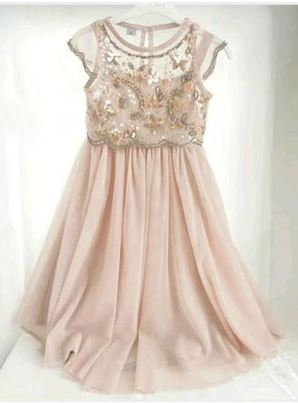 Gorgeous Scoop Neck A-Line/Princess Flower Girl Dresses Floor-length Chiffon Sleeveless