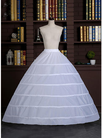 Bustle Floor-length Satin Full Gown Slip 1 Tiers Petticoats