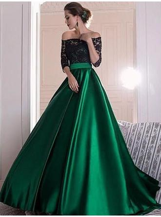 Ball-Gown Off-the-Shoulder Sweep Train Evening Dresses