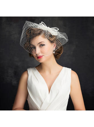 Imitation Pearls/Tulle With Imitation Pearls/Bowknot/Tulle Fascinators Charming Ladies' Hats