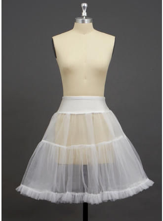 Petticoats Knee-length Tulle Netting/Spandex A-Line Slip/Half Slip 2 Tiers Petticoats