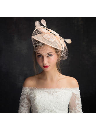 Feather/Net Yarn/Lace/Tulle With Feather Fascinators Classic Ladies' Hats