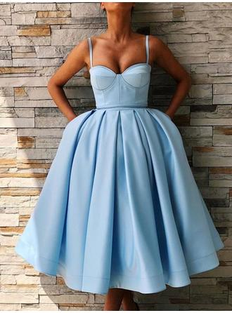 Ball-Gown Sweetheart Tea-Length Homecoming Dresses With Ruffle