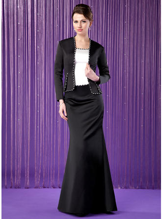 Trumpet/Mermaid Scoop Neck Floor-Length Mother of the Bride Dresses With Beading