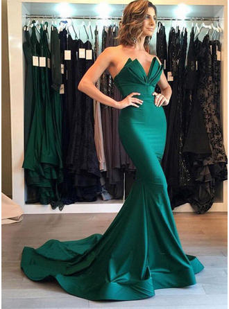 Trumpet/Mermaid Sweetheart Court Train Evening Dresses