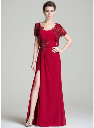 A-Line/Princess Sweetheart Floor-Length Mother of the Bride Dresses With Ruffle Beading Appliques Lace Sequins Split Front