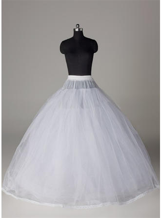 Bustle Floor-length Tulle Netting/Satin/Lace Full Gown Slip 8 Tiers Petticoats