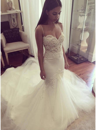 Trumpet/Mermaid Sweetheart Cathedral Train Wedding Dresses