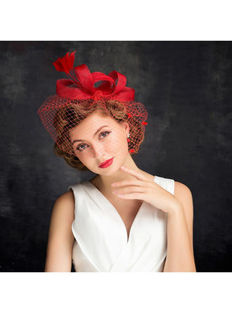 Feather/Net Yarn With Feather/Tulle Fascinators Charming Ladies' Hats